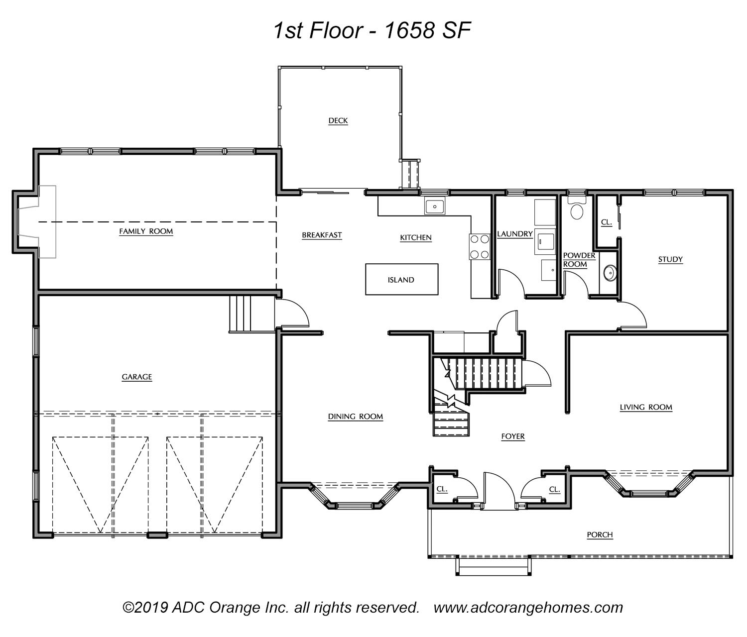 1st Floor Plan for Carmel - New Home in Orange County, New York