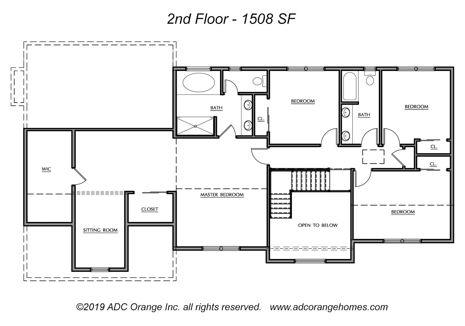 2nd Floor Plan for Carmel - New Home in Orange County, New York