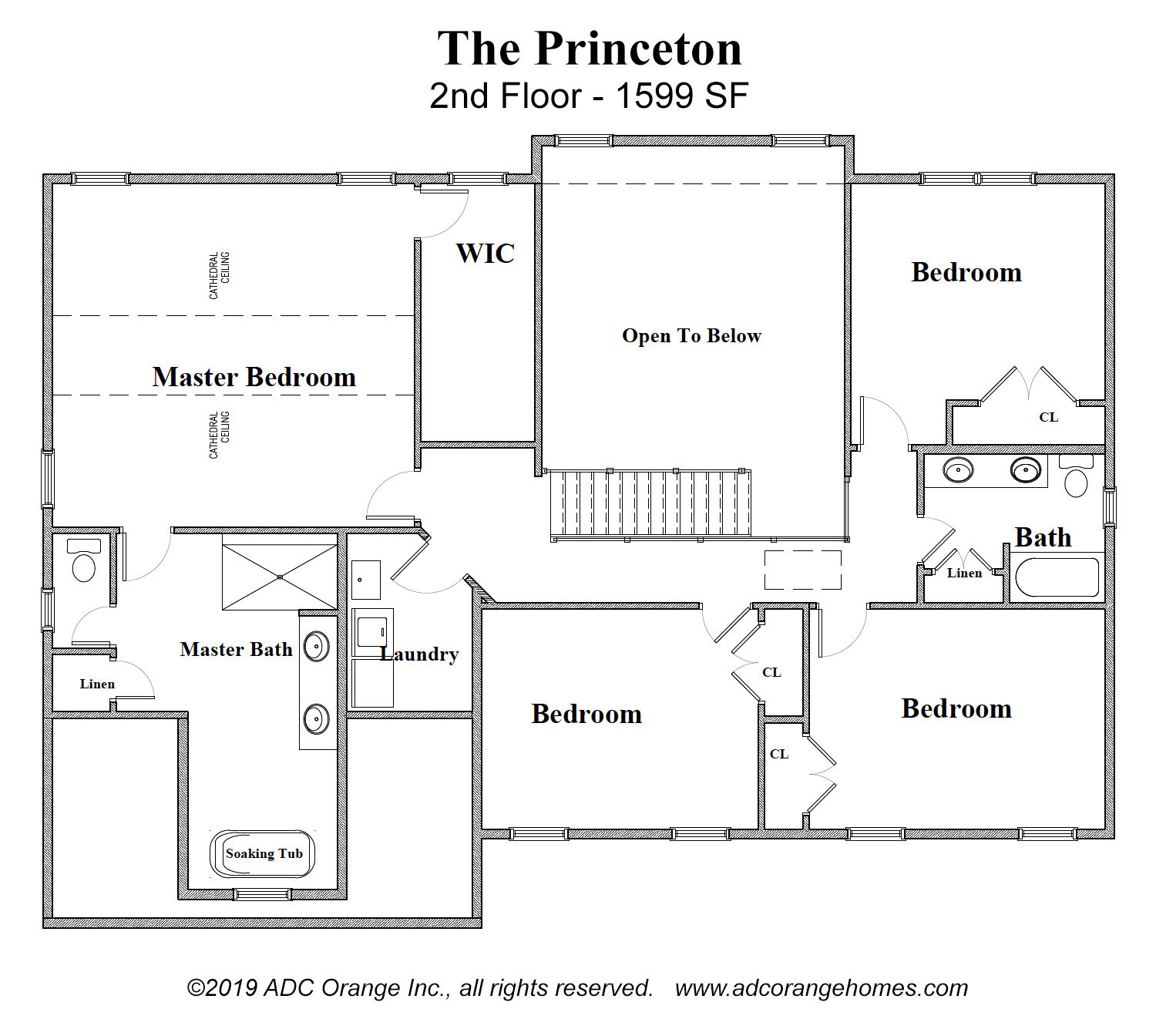 2nd Floor Plan for move in ready home - Orange County, New York