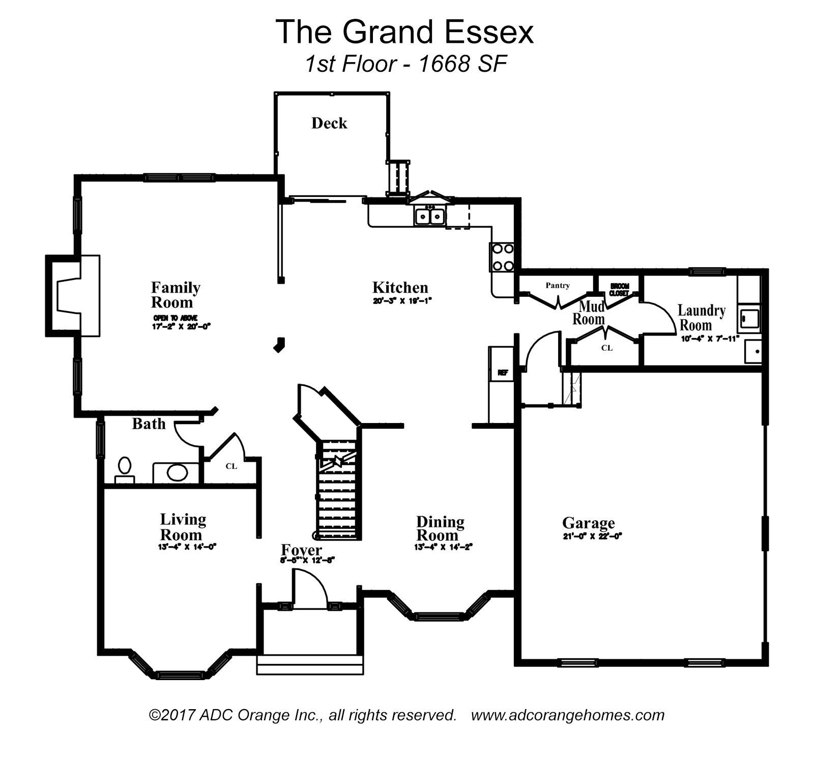 Spacious Brand New Home The Grand Essex – Essex Homes Floor Plans