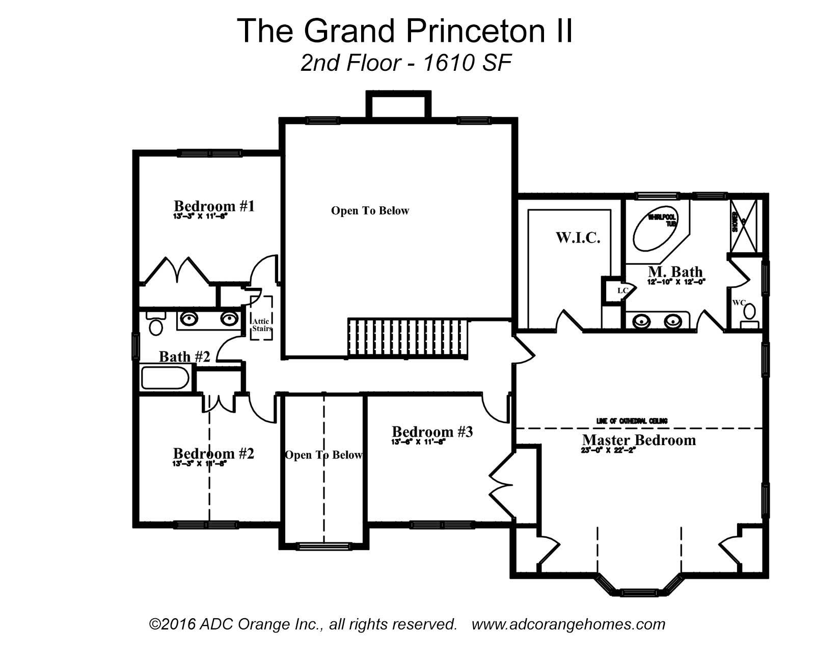 2nd Floor Plan for Grand Princeton II - New Home in Orange County, New York