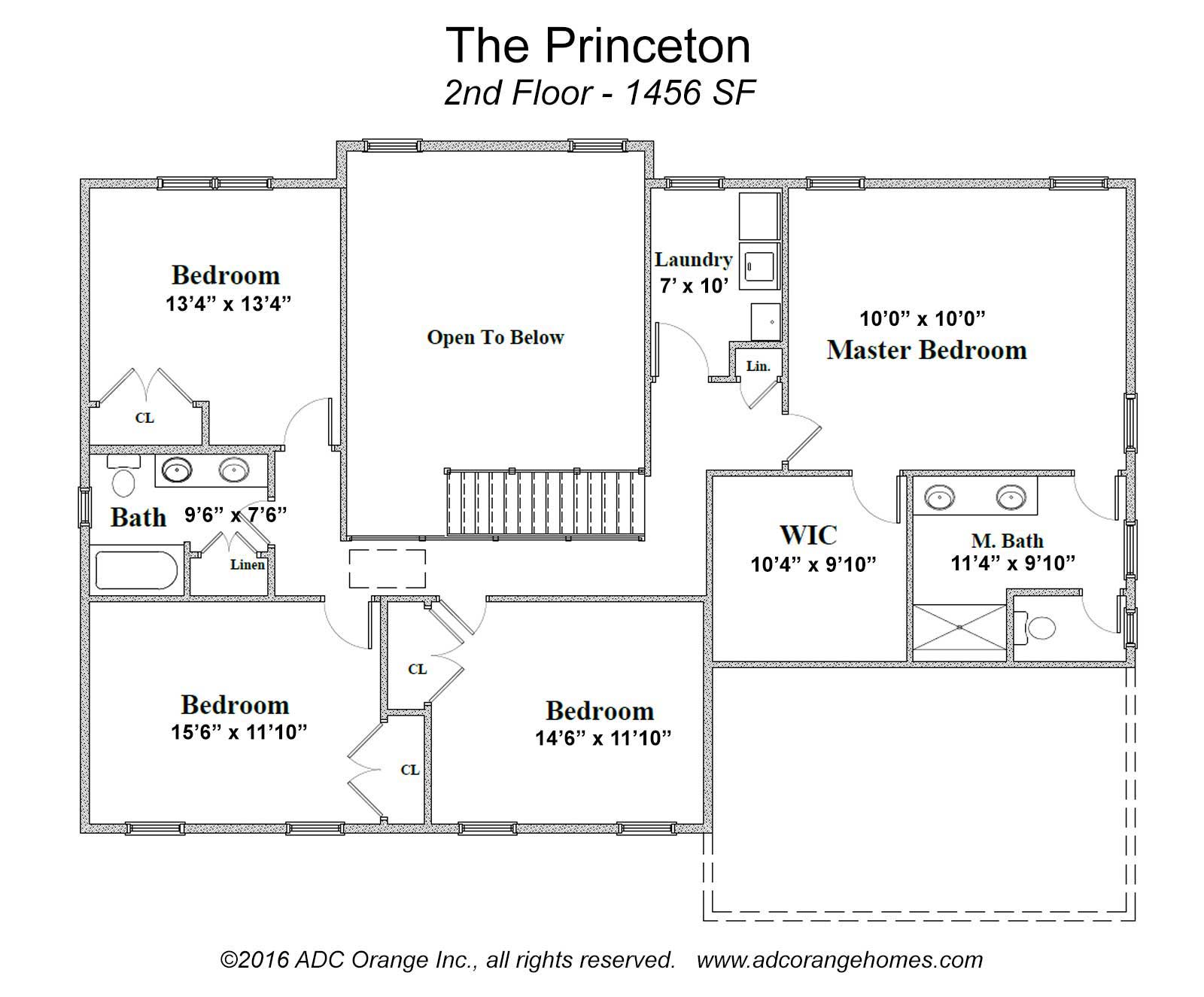 2nd floor plan for new house for sale orange county new york