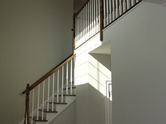 Multiple railing options are available with stairs.
