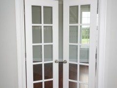 French doors at entrance of living room