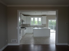 Ideal kitchen for family - view from dining room