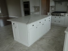 Kitchen island with extra storage and side panels