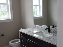 Large powder room on first floor