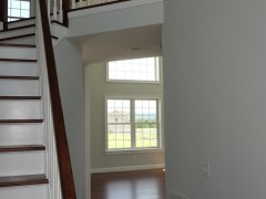 Spacious entry to family room