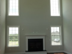 View of double height family room