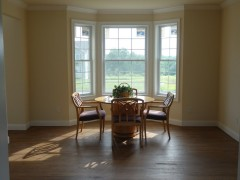 View of the bay window in the formal dining room