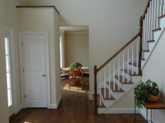 View of the dining room from the entry foyer